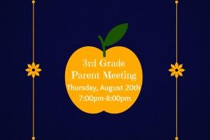3rd Grade Parent Meeting