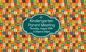Kindergarten Grade Meeting