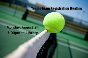 Tennis Team Registration