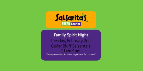 Salsaritas Spirit Night
